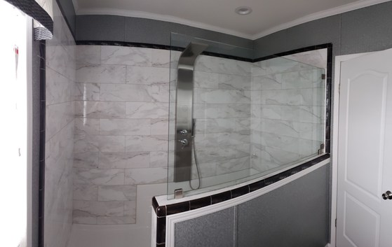 TILE SHOWER in the Encore Singlewide