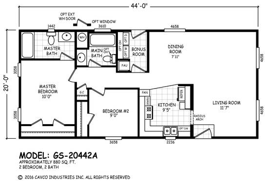 gs_20442a_545_1  Bed Bath Manufactured Home Floor Plan on 2 bed 1 bath floor plans, 5 bed 3 bath floor plans, 4 bedroom home floor plans, 6 bed 3 bath floor plans, 3 bed 3 bath floor plans, bathroom floor plans,