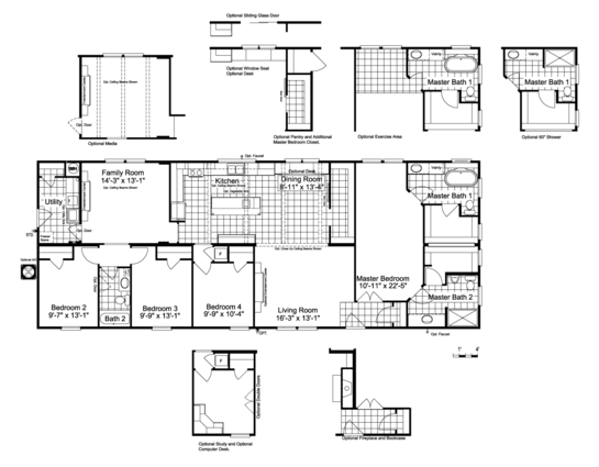 The Lucky 7 Model II ML28724L Floor Plan