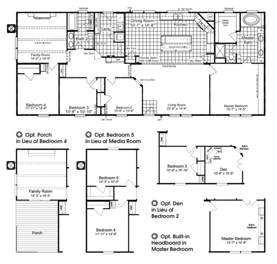 The Carrington Ml30643c Manufactured Home Floor Plan Or