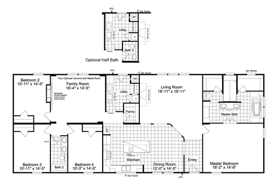 The Picasso IV MM30764A Floor Plan